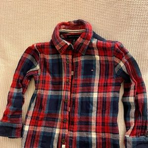 Tommy Hilfiger Shirts & Tops - Tommy Hilfiger red navy shirt and cardigan age 4